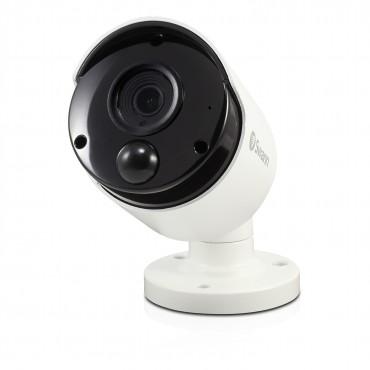 Swann 5mp Ip True Detect White Bullet Camera W Audio Swnhd-865msb-au