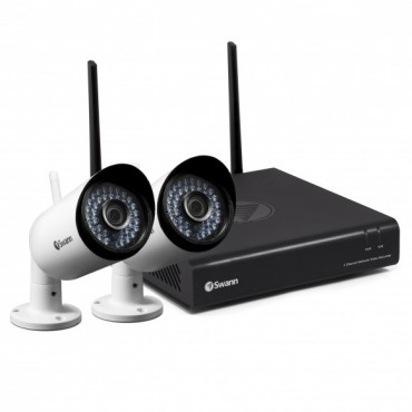 SWANN 1080P WIRELESS MONITORING SYSTEM WITH 2X WIFI CAMERAS SWNVK-485KH2-AU