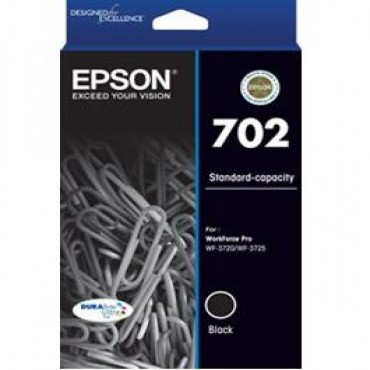 EPSON 702 Std Black Ink DURABrite - WF-3720 WF-3725 C13T344192