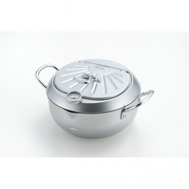 Mirakutei III Deep Frying Pan With Hinged Lid 20cm (Integrated Thermometer) Elecookmirahuteiiii