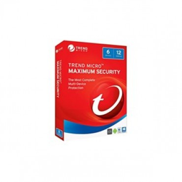 Trend Micro Maximum Security 2017 (1-6 Devices) 12mth Add-On TICEWWMBXSBBEO