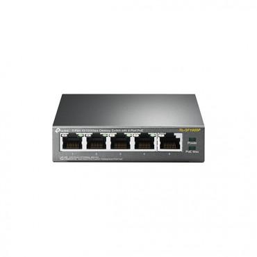 Tp-Link Tl-Sf1005P 5-Port 10/ 100Mbps Desktop Switch With 4-Port Poe Vr500V