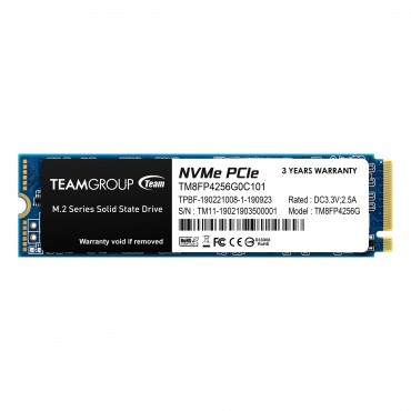 Team Ssd M.2 Nvme (Mp34) 256Gb Tm8Fp4256G0C101