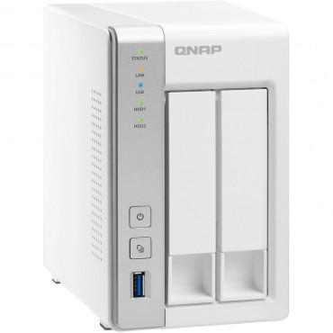 QNAP TS-231P 2-Bay TurboNAS, ARM Cortex-A15 dual-core 1.7Ghz, 1GB RAM, SATA 6Gb/ s, 2x GbE LAN,