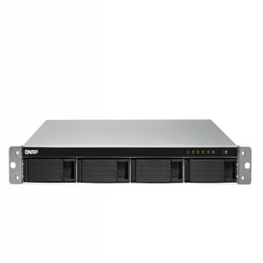QNAP TS-453BU-4G 4BAY NAS (NO DISK) 4GB CEL QC-1.5GHz USB-C GbE(4) 1U 2YR TS-453BU-4G