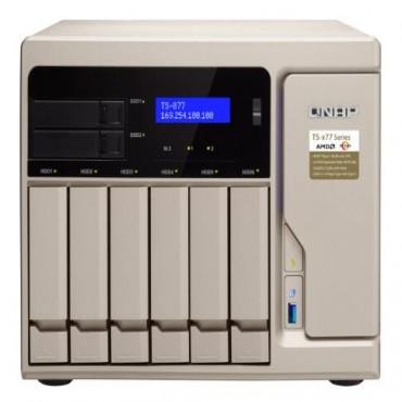 QNAP TS-877-1700-16G 6+2 BAY NAS (NO DISK) 16GB RYZEN 7 GbE(4) USB-C TWR 2YR TS-877-1700-16G