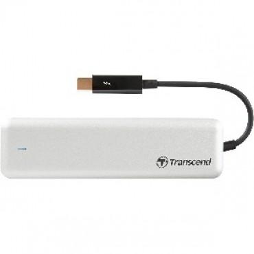 TRANSCEND JETDRIVE 825 - THUNDERBOLT PCIE PORTABLE SSD - 480GB BLACK TS480GJDM825