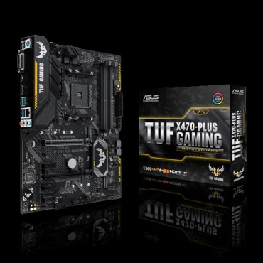 Asus Amd X470 Atx Gaming Motherboard With Aura Sync Rgb Led Lighting Ddr4 3200mhz Support 32gbps
