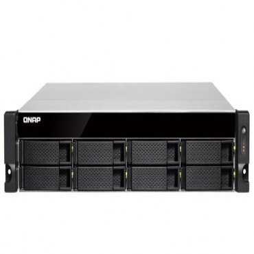 Qnap Tvs-872Xu-Rp-I3 8 Bay Nas(No Disk) I3-8100 4Gb 10Gbe Sfp+(2) Gbe(4) 2U 3Yr Tvs-872Xu-Rp-I3
