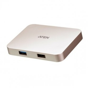 Aten Usb-C Ultra Mini Gaming Dock With Power Pass-Through Uh3235-At