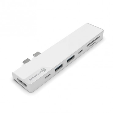 Alogic Ultra Dock Nano - Hdmi 4K/ Usb-C With Pd/ Usb 3.0 Hub/ Card Reader - Silver Uldnag2-Slv