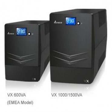 Delta Vx Line Interactive 1000va/ 600w Mini Tower Ups 4x Au Outlet 10a Input Cord Free Ups Management