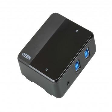 Aten 2 X 4 Usb 3.1 Gen1 Peripheral Sharing Switch 2 X 4 Usb 3.1 Gen1 Peripheral Sharing Switch