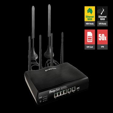 DrayTek Multi Wan Router With Lte Sim Card Slot 2 X Gigabit Wans And 4g Usb Wan Port