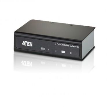 Aten (VS182A) VanCryst 2 Port 4K HDMI Splitter. Up to 4096 x 2160/ 3840 x 2160 @ 60Hz (4:2:0); 4096