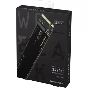Western Digital 1TB WD Black SN750 M.2 PCIe NVMe SSD Drive WDS100T3X0C, Up to 3430MB/s