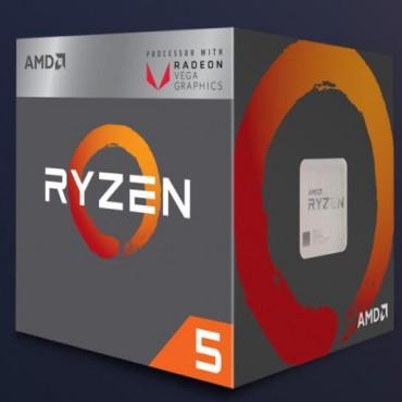 AMD RYZEN 5 2400G 4/8 65W AM4 CPU 3900MHZ 6MB CACHE RX VEGA GRAPHICS WRAITH STEALTH COOLER YD2400C5FBBOX