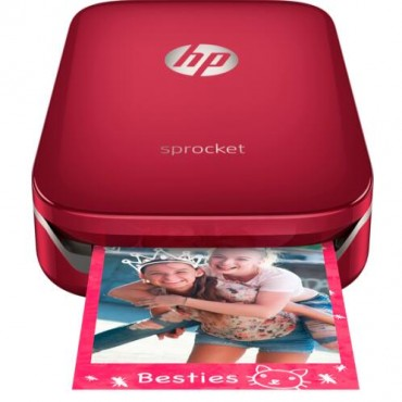 HP SPROCKET PHOTO PRINTER RED Z3Z93A