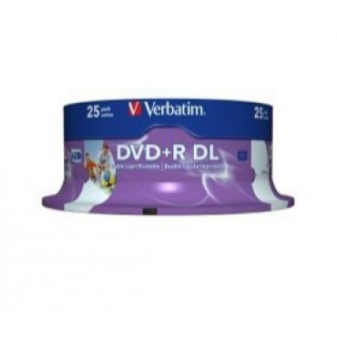 Verbatim Dvd+r Dl 8.5gb 8x White Wide Ij 25pk Sp 43667