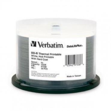 Verbatim Bd-r 25gb 50pk White Wide Thermal 6x 97338