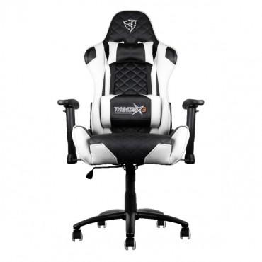 Aerocool Black & White ThunderX3 TGC12 Adjustable Ergonomic Motorsports Inspired Desk Chair AER-4710700959541