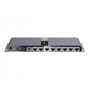 Lenkeng Hdmi Splitter 8 Ports Over Cat6 1080P Up To 60M With Ir. With 8 Receivers Lkv718Pro