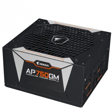 Gigabyte Ap750gm Aorus 750w Atx Psu Power Supply 80+ Gold >90% Modular 135mm Fan Black Flat Cables