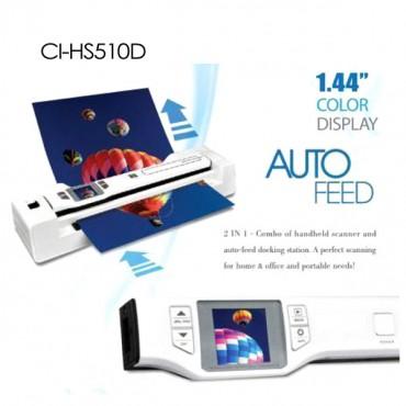 Digitalk 2-in-1 Combo Portable A4 1200dpi Photo & Document Scanner (ci-hs510d) Eledighs510dcom