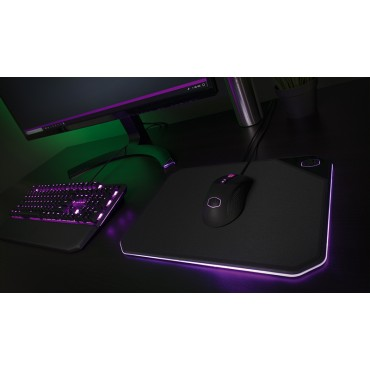 Coolermaster Mp860 Rgb Hard Gaming Mousepad (Size: 360*260*6Mm) Two Slick Surfaces Components