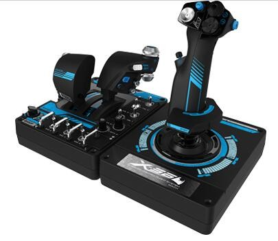 LOGITECH G X56 H.O.T.A.S. RGB Throttle & Stick Simulation Controller 6 DOF Pitch Roll Yaw Back Forward Up