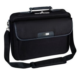 """TARGUS CN01, 15.6"""" NOTEPAC, BLACK, PADDED COMPARTMENT, NOTEBOOK CARRY CASE."""