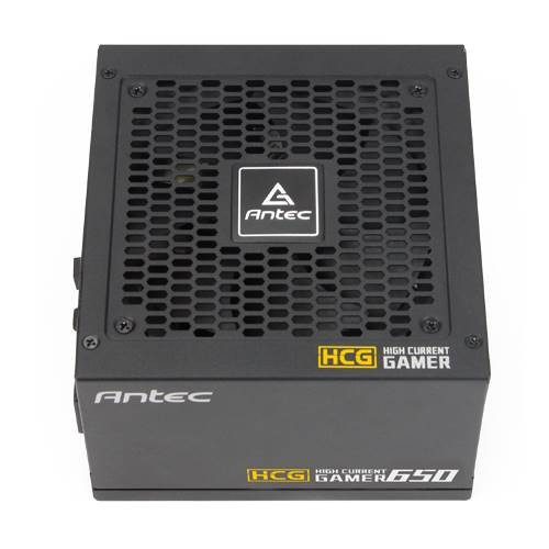 Antec HCG-650G 650w 80+ Gold Fully Modular PSU, 120mm FDB Fan, 100% Japanese Caps, DC to DC, Compact Desig