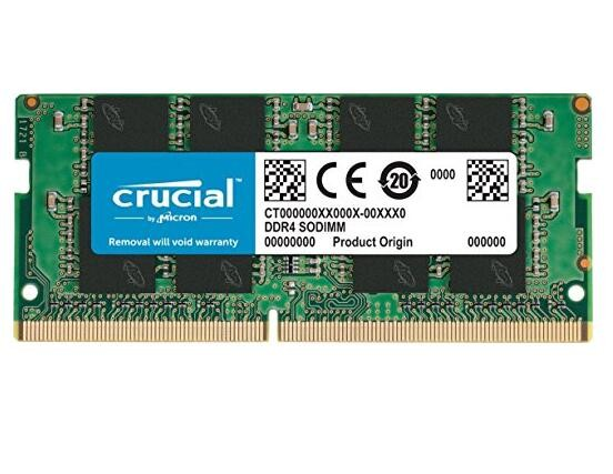 Micron Crucial DDR4 SODIMM PC19200-4GB 2400Mhz Single Rank CL17 Notebook Memory [CT4G4SFS624A]