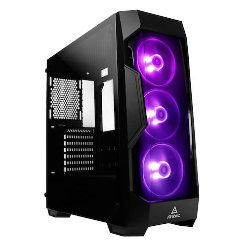 Antec DF500 RGB ATX Tempered Glass, Tinted Front, 3x RGB Fan, 380mm VGA, Gaming Case