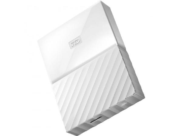 WESTERN DIGITAL WD My Passport Portable 2TB White 2.5 Portable USB3.0. Built-in 256-bit AES Hardware Encryption (WDB