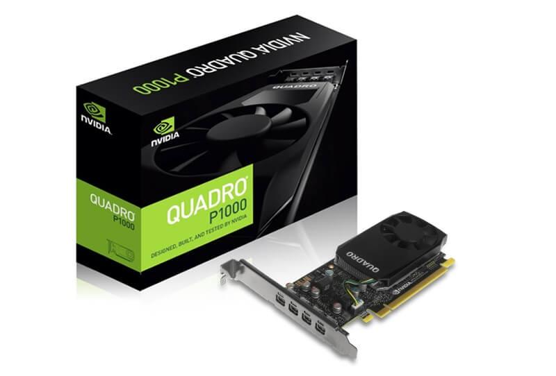 LEADTEK Quadro P1000 4GB GDDR5 128-bit, 4 x mDP(Ver 1.4)  Active Fansink, Low Profile card (attached ATX bracket