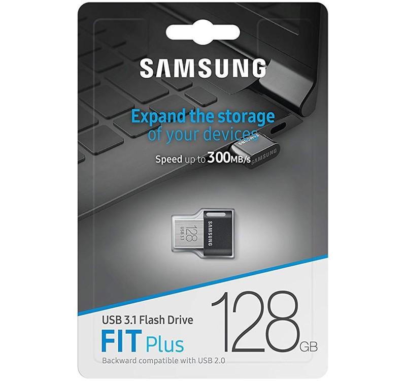 Samsung 128gb Fit Plus Usb3 1 Flash Drive Up To 300 Mb S
