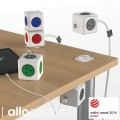 Image 4 of Allocacoc PowerCube 4 Power Outlets & 2 USB, 3m Extended Cable, Red 5404/AUEUPCRED 5404/AUEUPCRED