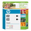 Image 3 of Hp 02 Ink Cartridge Twin Pack Black Ce015aa CE015AA