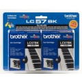 Image 3 of Brother Lc57bk2pk Blk Ink 2 Pack Lc57bk2pk For Dcp-350c, Mfc-465cn/ 885cw LC-57BK 2PK