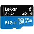 Image 5 of Lexar 512Gb High Performance 633x Micro SDXC Card, UHS-I, 95MB/s, U3 C10 V30 LSDMI512BBAP633A LSDMI512BBAP633A