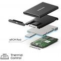 Image 6 of Samsung T7 1TB Portable SSD USB 3.2 External Solid State Drive Gray MU-PC1T0T/WW, Up To 1050 MB/s, USB 3.2 Gen 2 MU-PC1T0T/WW