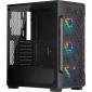 Corsair iCUE 220T RGB Airflow Tempered Glass Mid-Tower Smart Case — Black (Cc-9011173-Ww)