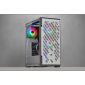 Corsair iCUE 220T RGB Airflow Tempered Glass Mid-Tower Smart Case — White (Cc-9011174-Ww)