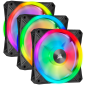 Corsair iCUE QL120 RGB 120mm PWM Triple Fan with Lighting Node CORE (Co-9050098-Ww)