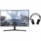 Samsung 27 CURVED MONITOR WITH STEELSERIES ARCTIS 7 REFRESH HEADSET Lc27H800Fcexxy + Ss-61505