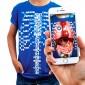 Curiscope Virtuali-Tee Augmented Reality T-Shirt For Anatomy - Medium Cu-Vtee-M
