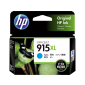 HP 915XL High Yield Cyan Original Ink Cartridge 3Ym19Aa