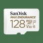 SANDISK MAX ENDURANCE MICROSDXC CARD SQQVR 128G (60 000 HRS) UHS-I C10 U3 V30 100MB/S R 40MB/S W SD ADAPTOR Sdsqqvr-128G-Gn6Ia