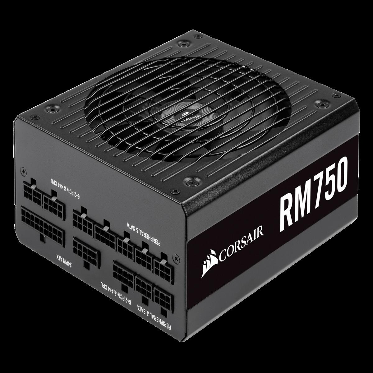 Image 1 of Corsair RM Series Rm750 80 Plus Gold Fully Modular Atx Power Supply Cp-9020195-Au CP-9020195-AU